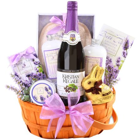 Alder Creek Relaxing Easter Lavender Gift Basket, 10 pc
