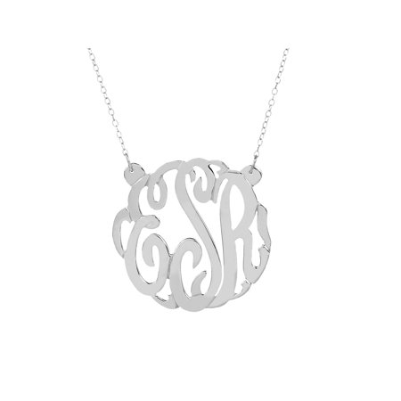 Monogrammed Jewelry - Sterling Silver 7/8