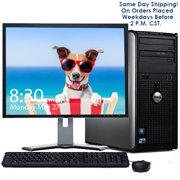 "Dell Desktop Computer Bundle Windows 10 PC Intel Core 2 Duo 4GB RAM 160GB HD DVD 300Mps Wifi Bluetooth with a 17"" LCD - Same Day Shipping On Weekday Orders Placed By 2 PM - Refurbished"