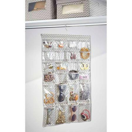 InterDesign Chevron Fabric Hanging Fashion Jewelry Organizer