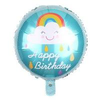 "KABOER 18"" Happy Birthday Kid Infant Baby Shower Rainbow Cloud Foil Balloon Party Decor"