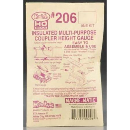 Coupler Height Gauge (206 Insulated Coupler Height Gauge HO )