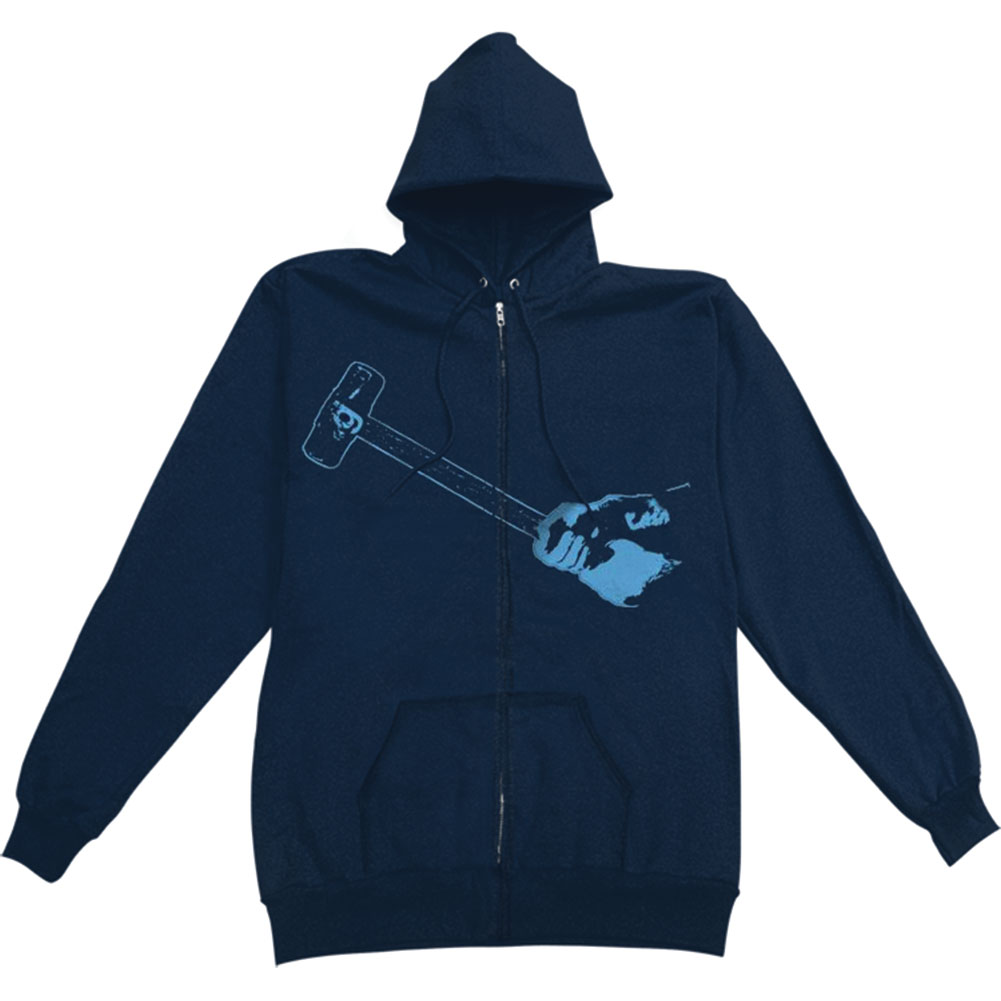 Glassjaw Men's  Sledgehammer Zippered Hooded Sweatshirt Blue