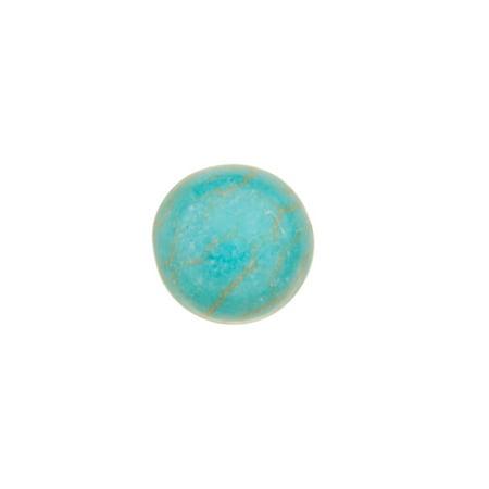 40pcs 6mm Round Imitation Turquoise Cabochon