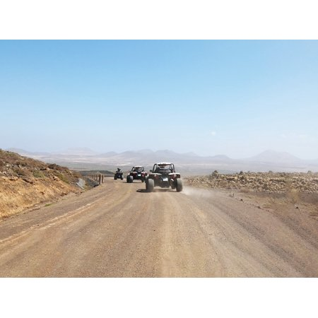 Canvas Print Quad Adventure Trail Extreme Sport Buggy Desert Stretched Canvas 10 x 14
