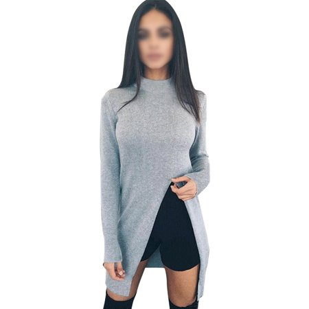 725050f526f6 Sexy Dance - Women Long Sleeve Loose Cardigan Knitted Sweater Winter ...