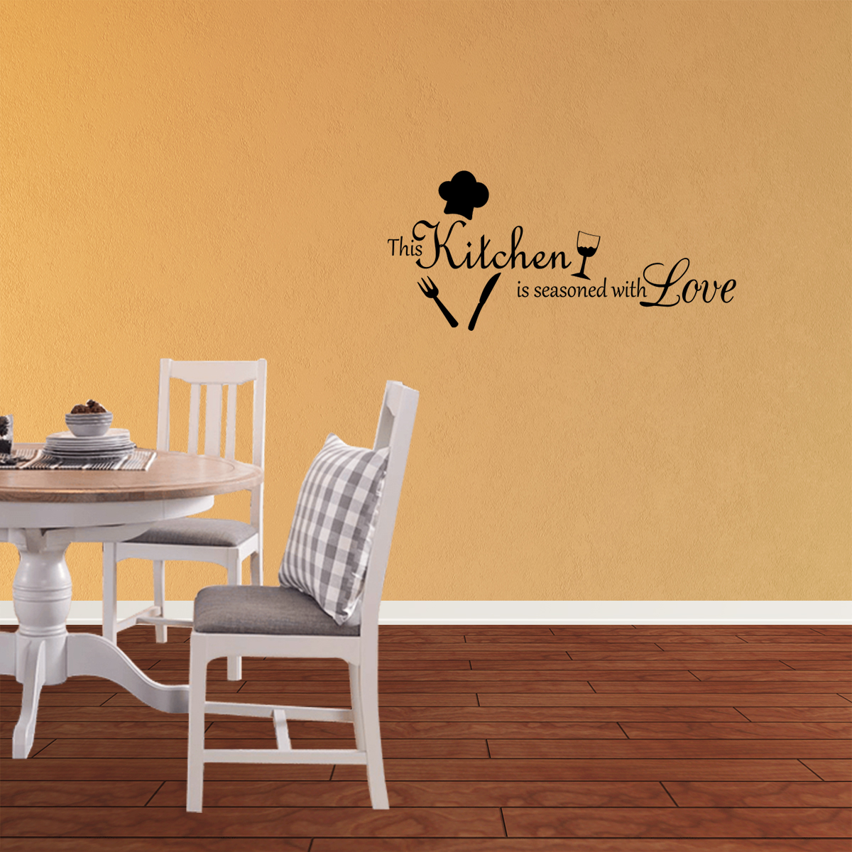 This Kitchen Is Seasoned With Love Vinyl Wall Decal Quotes Wall Stickers Kitchen Decals Home Decor Decals J189