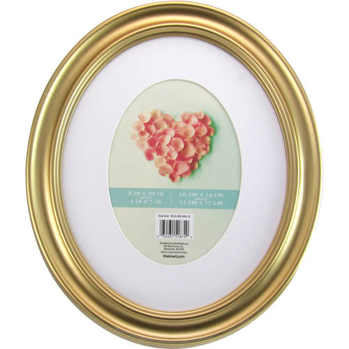 Mainstays 8x10 Matted To 5x7 Holmgren Oval Picture Frame