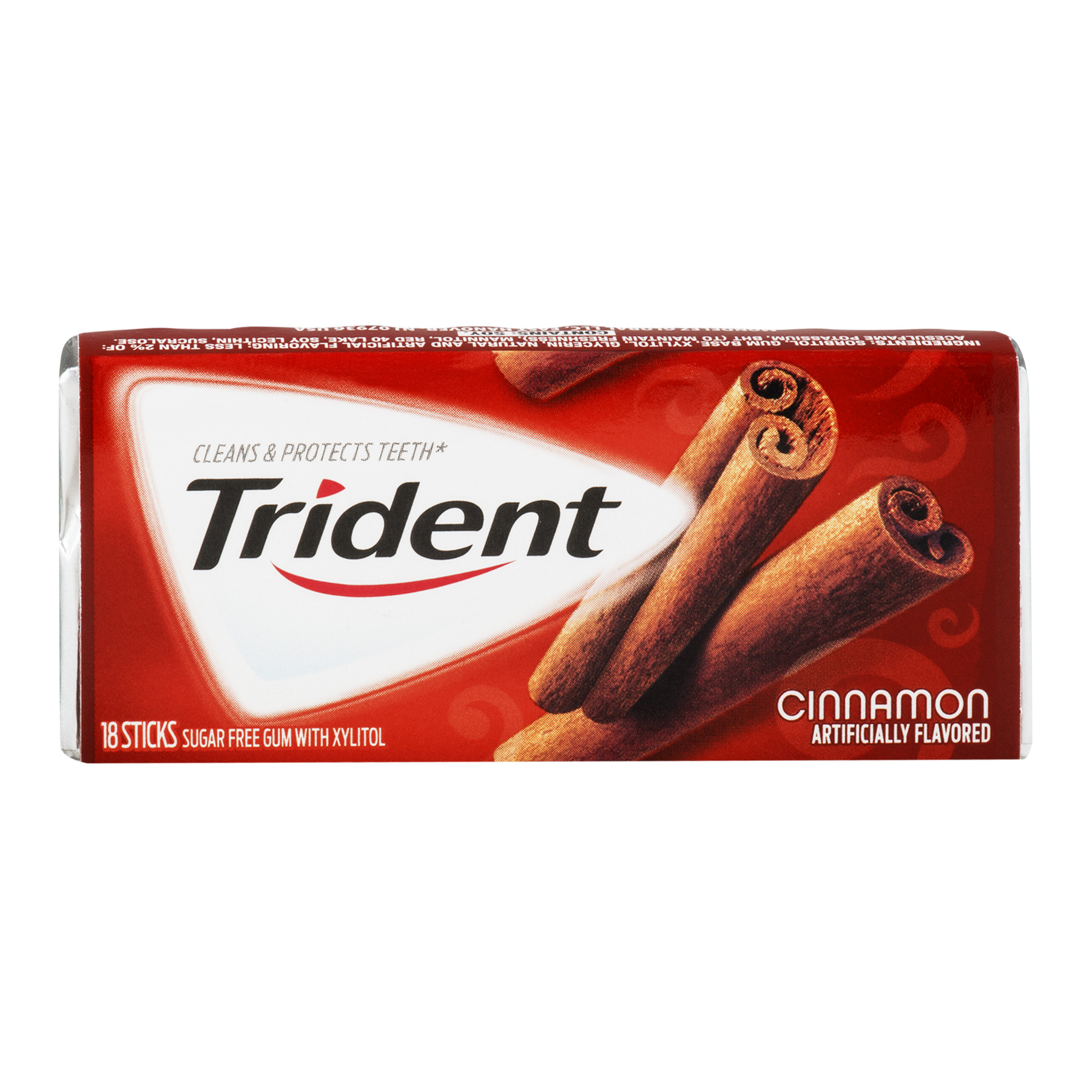Trident Cinnamon Sugar Free Gum with Xylitol, 18 count