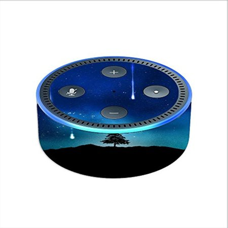 Skin Decal Vinyl Wrap for Amazon Echo Dot 2 (2nd generation) / Falling Stars trees - Falling Dot