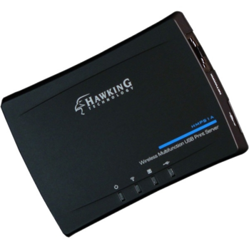 Hawking Technology HMPS1A Wireless Multifunction USB Print Server, Black