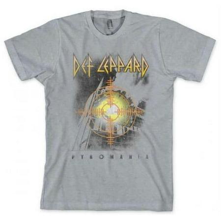 Live Nation Lnm Ld123 L Def Leppard Target Pyromania Heather Gray T Shirt   Heather Gray   Large