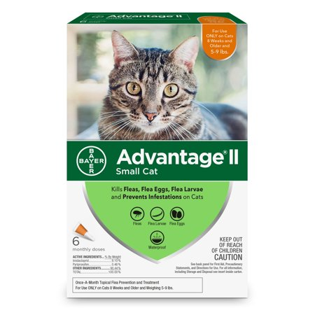 Amerock Advantage - Advantage II Flea Treatment for Small Cats, 6 Monthly Treatments
