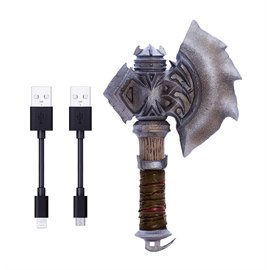 Swordfish Sfw Cc100da Warcraft Movie Collection Durotans Axe Microusb For Android And Lightning For Ios Charging Cord