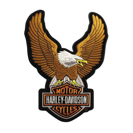 Harley-Davidson Eagle Winged Large Brown Patch, 7-3/4/'' x 10-1/4'' EMB328394, Harley Davidson ()