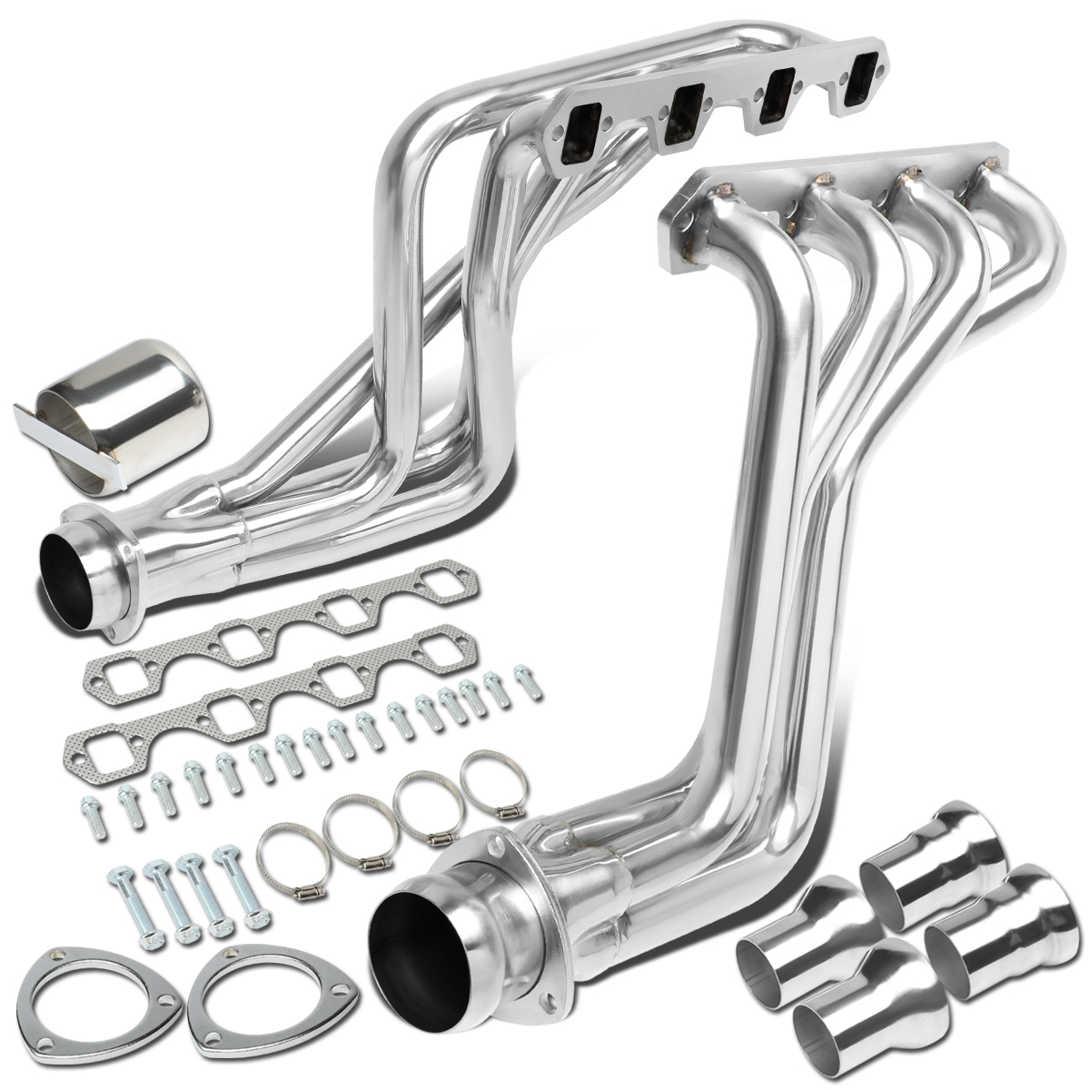 FOR 1980-1996 FORD F100-F350 BRONCO 5.0L V8 EXHAUST MANIFOLD HEADER+COLLECTORS