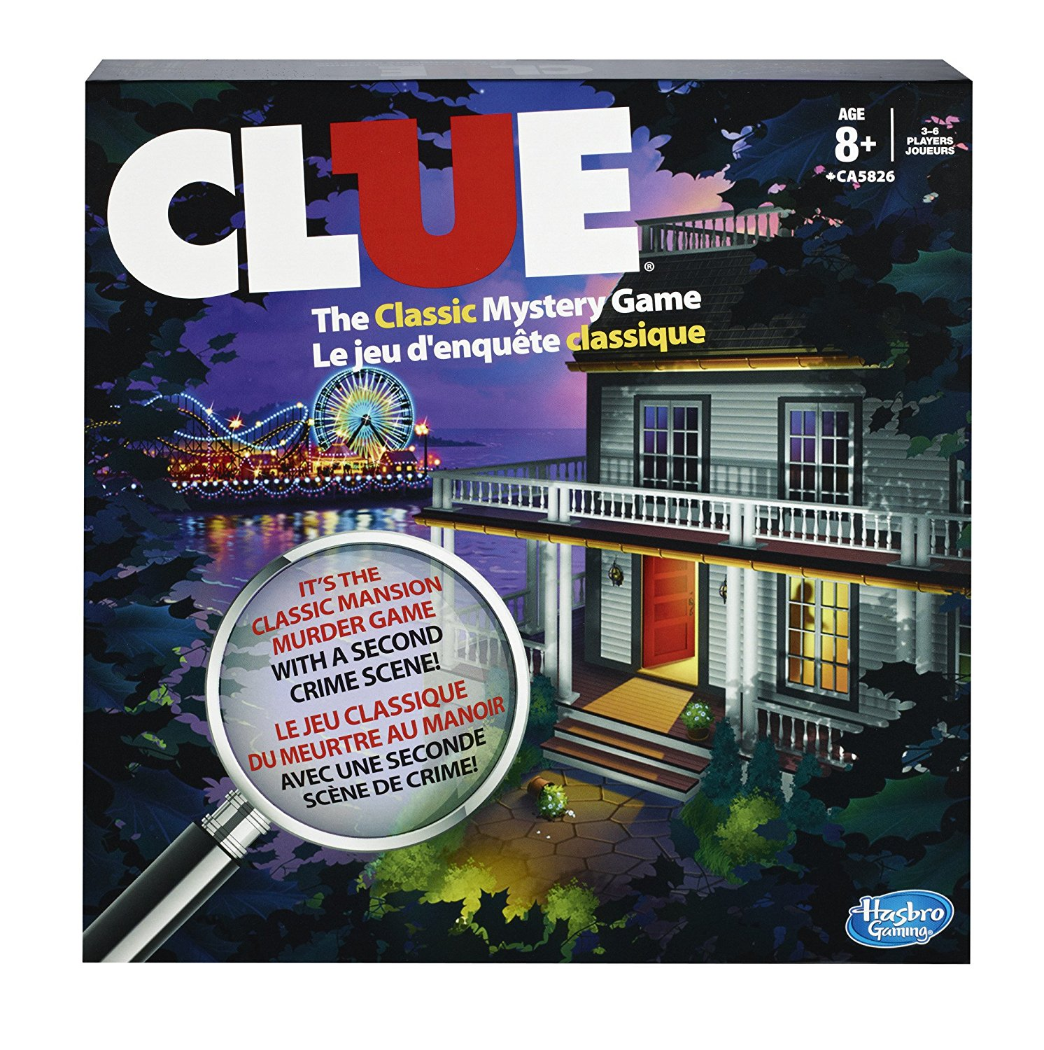 Clue Game, USA, Brand Hasbro by