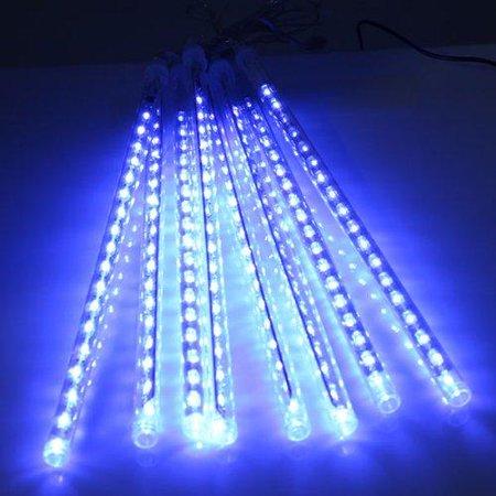 agptek 8 tube colorful meteor shower rain lights snowfall light for party christmas decoration 30cm 144leds - Meteor Christmas Lights