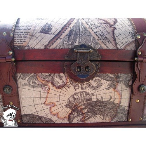 Buyers Choice World Map Trunk/Hope Chest Toy Box