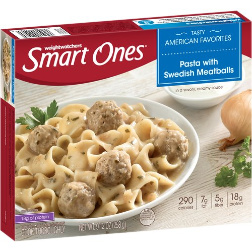 Weight Watchers Smart Ones Pasta with Swedish Meatballs, 9.12 oz