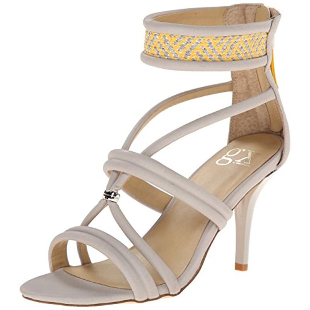 gx by Gwen Stefani Womens Adams Faux Leather Woven Dress Sandals by gx by Gwen Stefani