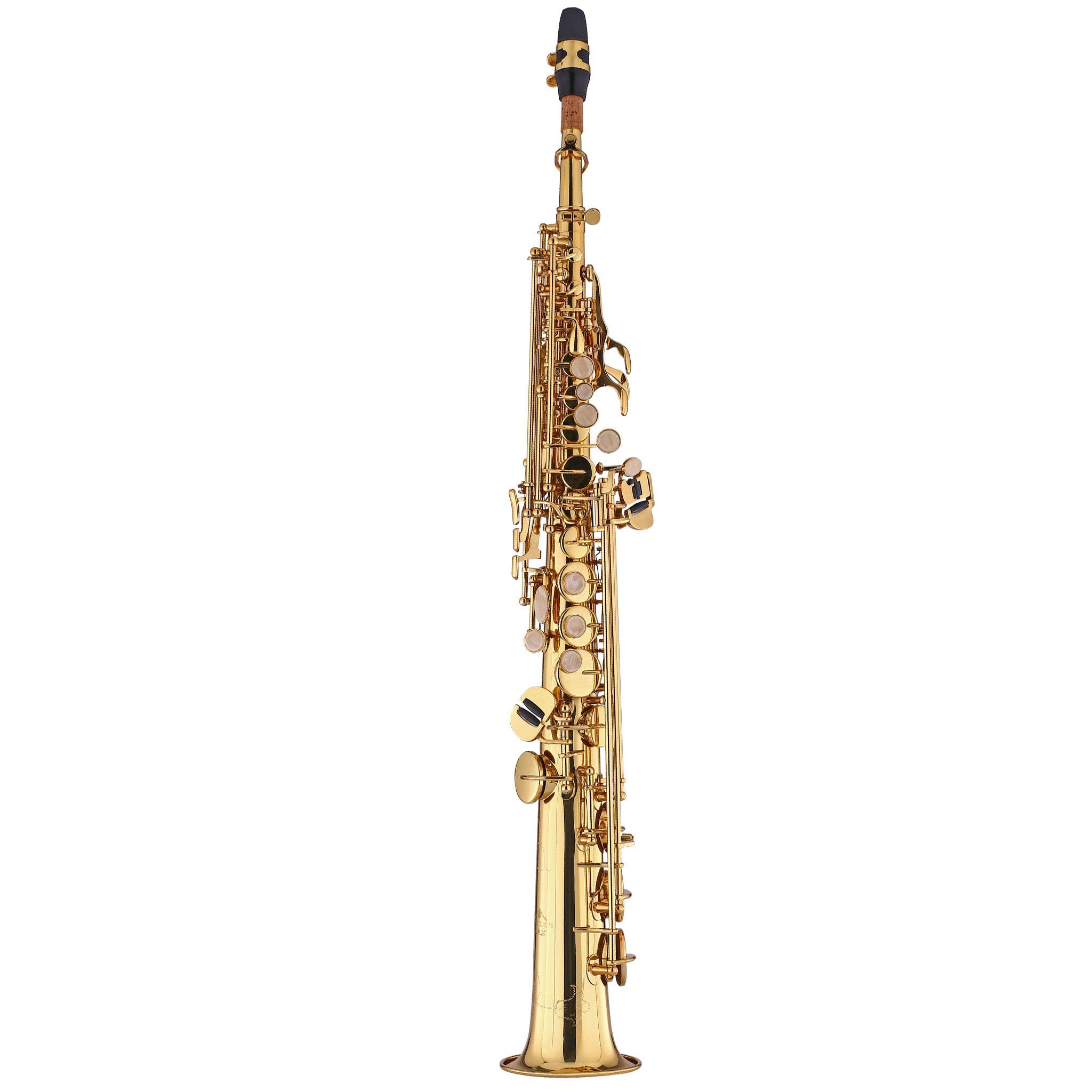 Kaizer Soprano Saxophone Straight B Flat Bb Gold Lacquer SSAX-1000LQ by Kaizer