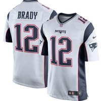 cd35549f20c Product Image Tom Brady New England Patriots Nike Game Jersey - White Navy  Blue