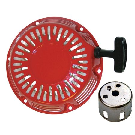 Fits Honda GX270 Recoil Starter Red Cover Pull Rope W/ Free Hub Engine Generator