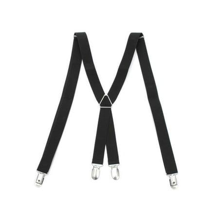 ca88e34ed Men s X-Back Clip Suspenders Adjustable Elastic Suspenders Retro Formal  Dress Tux - Walmart.com