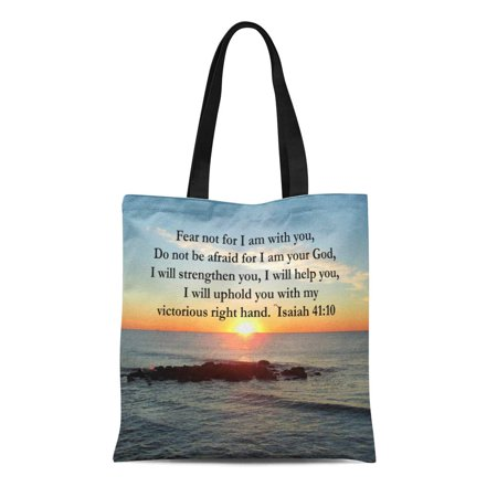 POGLIP Canvas Tote Bag Prophet Beautiful Isaiah Sunrise Book Old Testament Fear Reusable Handbag Shoulder Grocery Shopping Bags - image 1 de 1