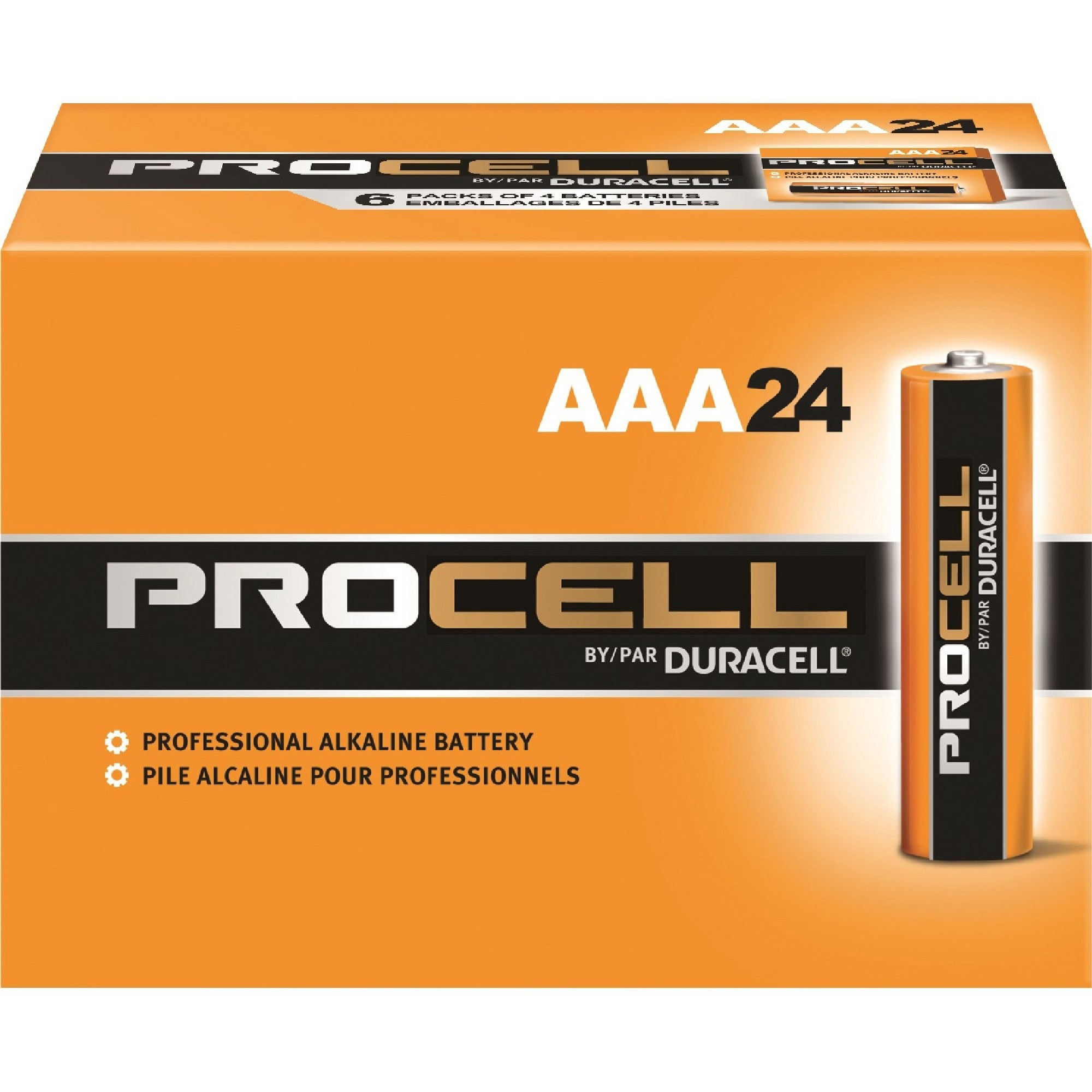 Duracell Procell Alkaline AAA Batteries, 24 Count