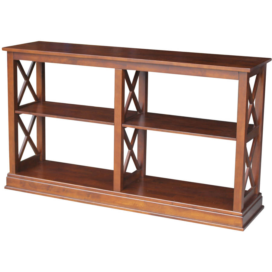 International Concepts Hampton Sofa, Server Table with Shelves
