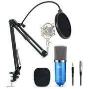 Pro Condenser Microphone Audio Studio Recording Mic W/ Stand Shock Mount