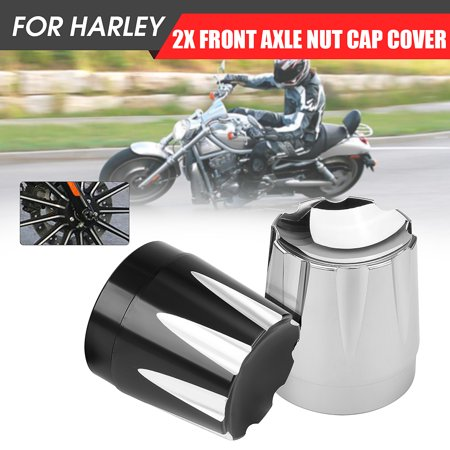 CNC Deep Edge Cut Front Axle Nut Cover Bolt For  Softail Dyna Fatboy FXS Billet Front Axle Bolt Covers