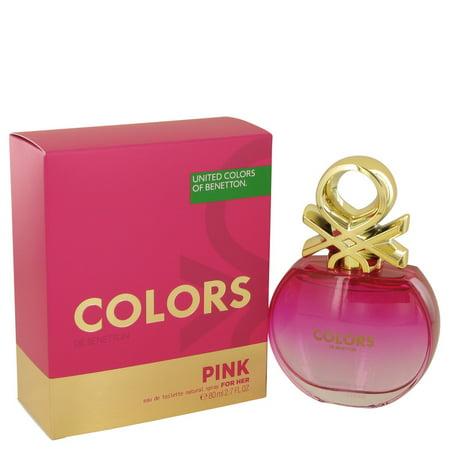 Colors Pink Eau De Toilette Spray By Benetton 2.7 oz - image 1 de 2
