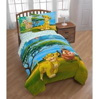 Lion King Twin/Full Reversible Comforter & Sham Set w/ Simba, Pumbaa, Timon, and Nala