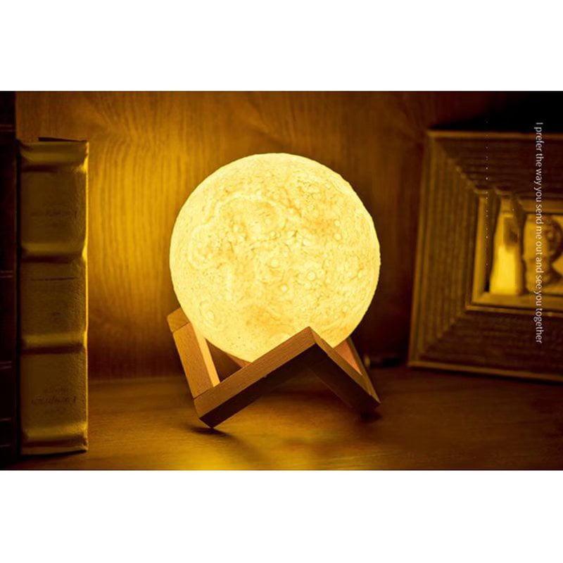 VicTsing 3D Print LED Moon Lamp USB LED Night Light Moonlight Touch Sensor Color Changing Kids Gift 13 CM (White Version)