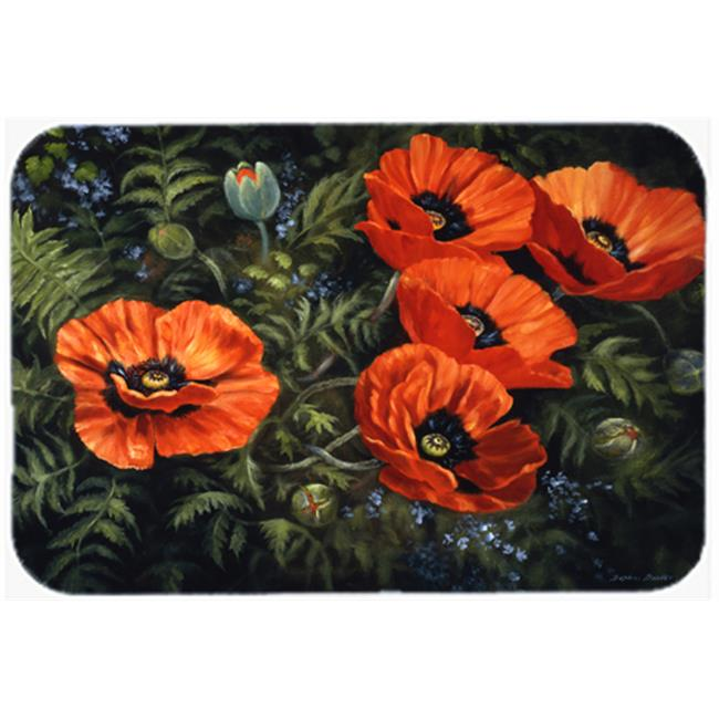 Carolines Treasures BDBA0007JCMT Poppies by Daphne Baxter Kitchen or Bath Mat, 24 x 36