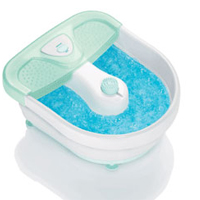 Conair Relaxing Foot Bath With Heat, Bubbles And 3 Attachments, # Fb27 - 1 Ea
