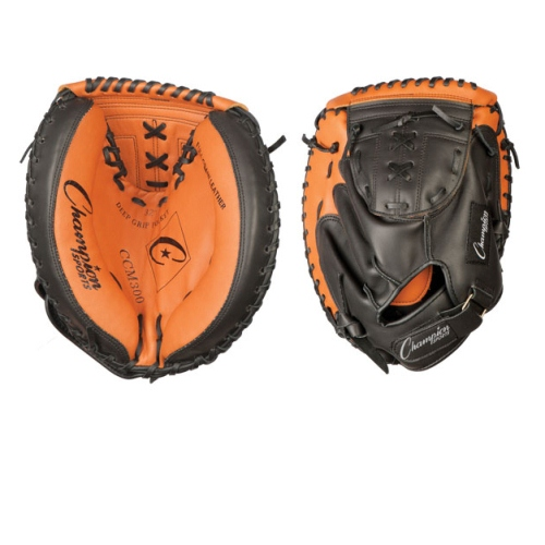 Leather Baseball Catcher's Mitt by Champion Sports, Youth 32'' by Champion Sports