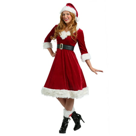 Womens Santa Claus Sweetie Costume - Santa Claus Coat