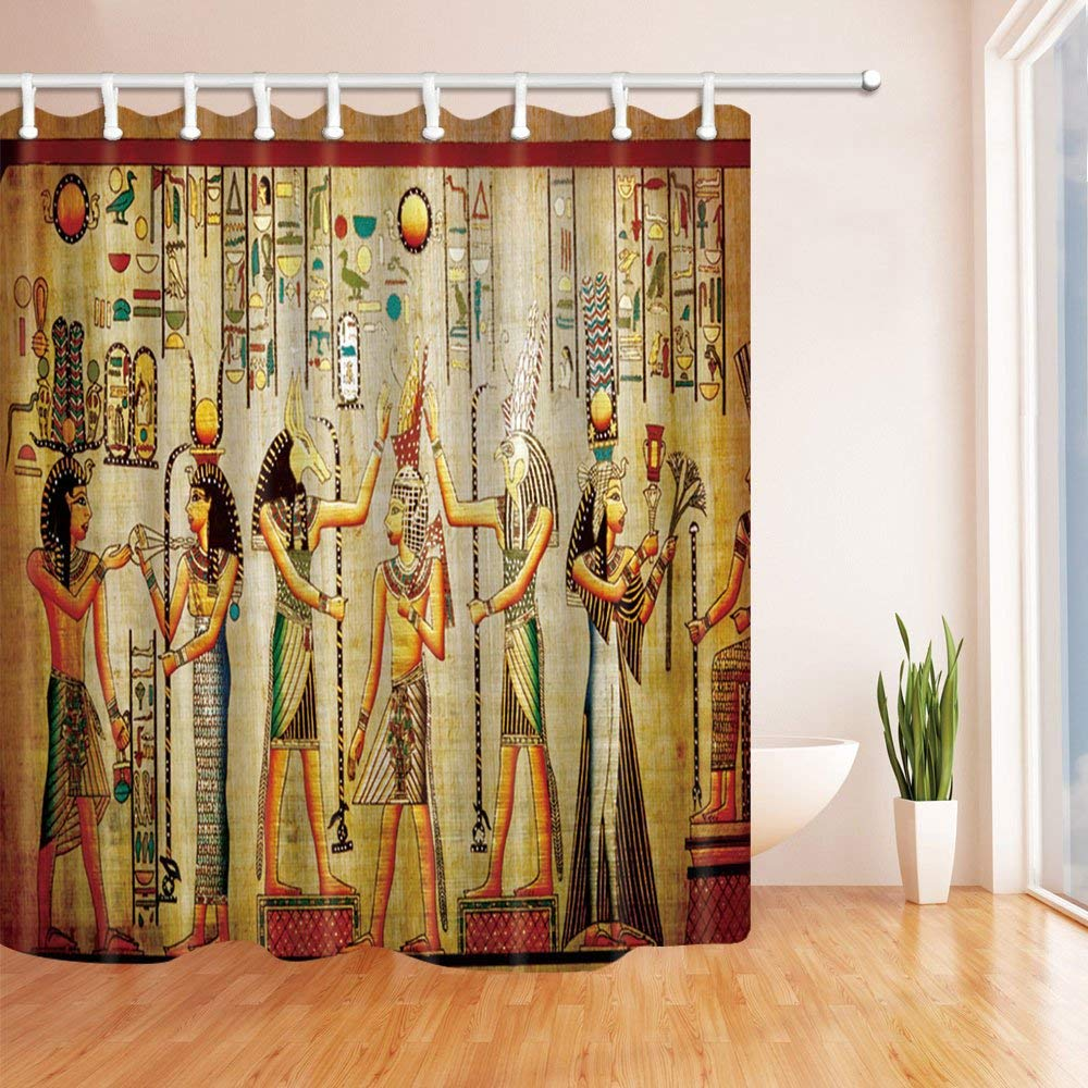 BPBOP Egyptian Decor Egyptian Pharaoh Polyester Fabric ...
