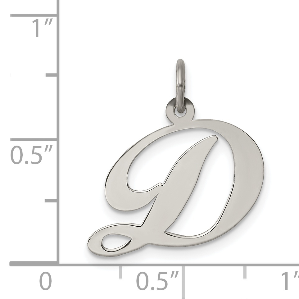 Sterling Silver 17mm Barbell with 7.5 Charm Bracelet Jewels Obsession Barbell Pendant