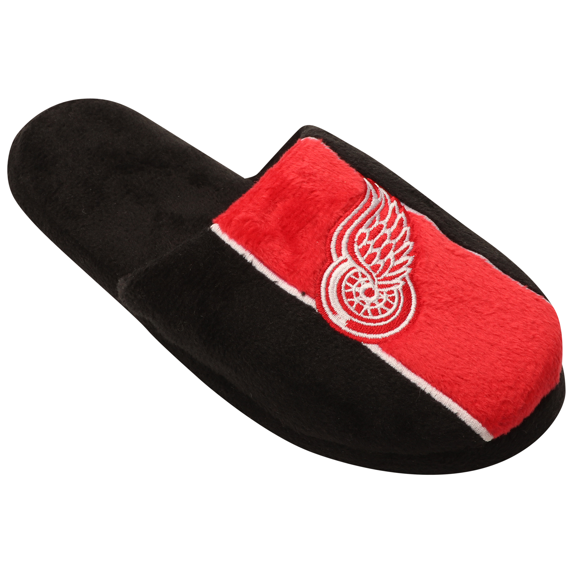Detroit Red Wings Youth Big Logo Stripe Slippers