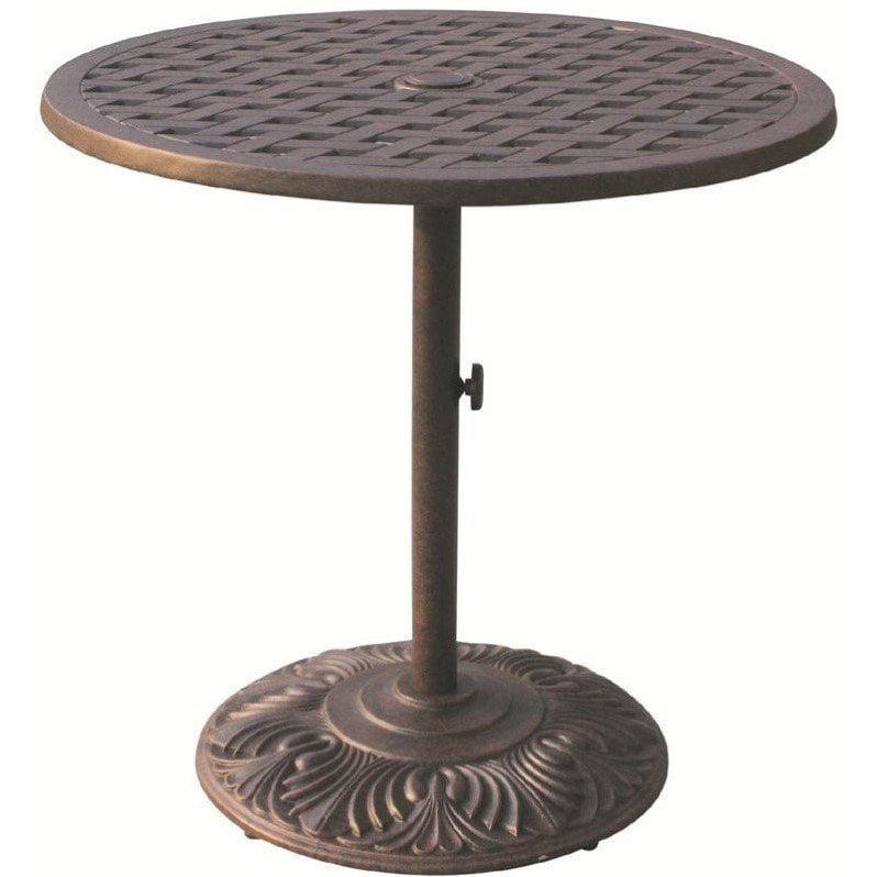 "Darlee Series 30 30"" Round Patio Pub Table in Antique Bronze by Darlee"