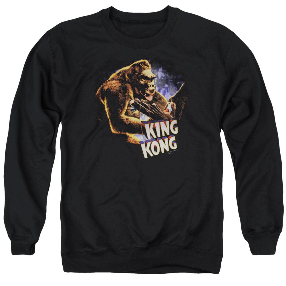KING KONG/KONG AND ANN - ADULT CREWNECK SWEATSHIRT - BLACK - MD