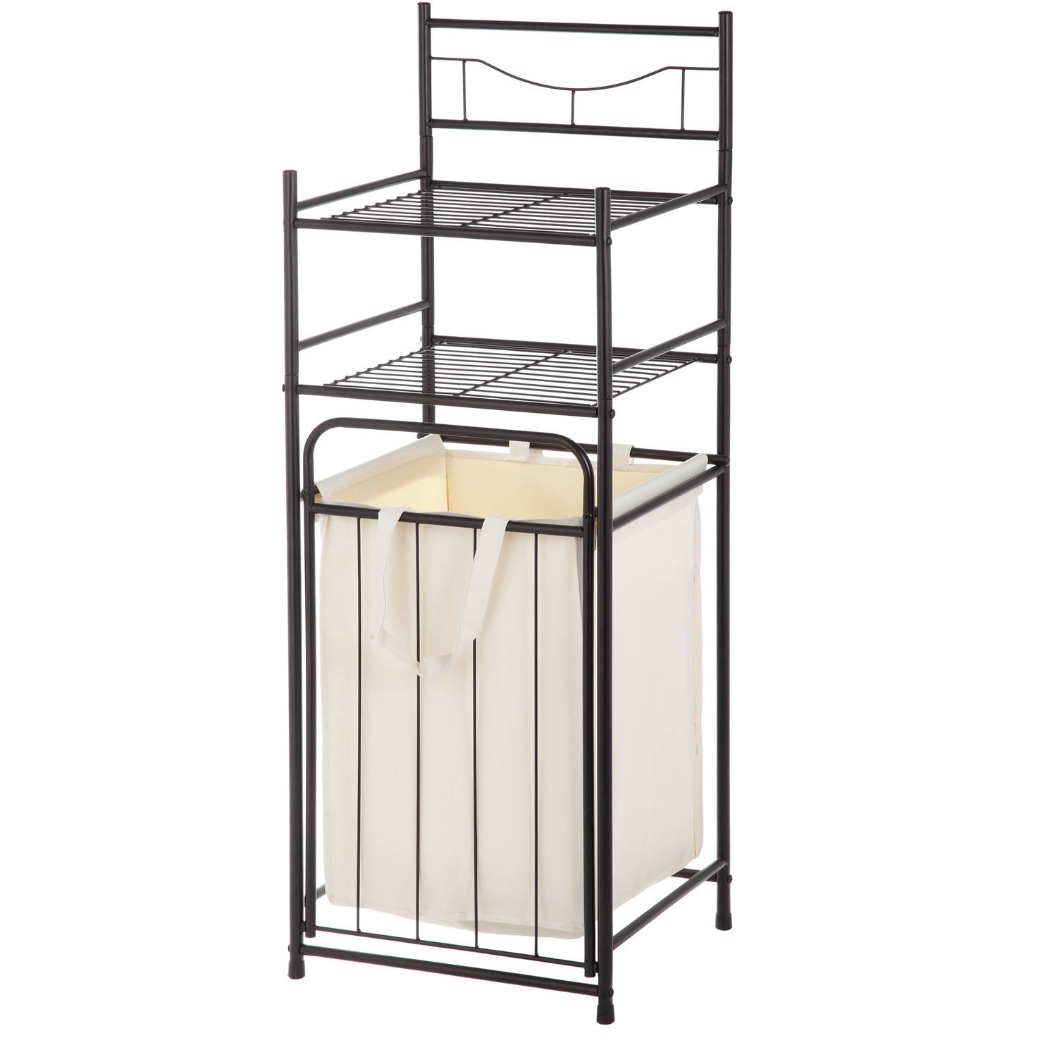 Mainstays Bathroom Tower with Hamper, Oil Rubbed Bronze