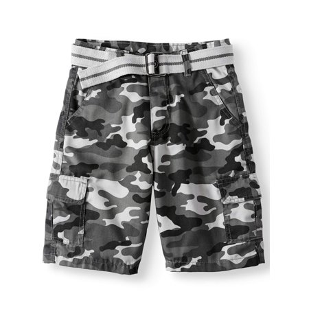Road Block Belted Camo Cargo Shorts (Big Boys) ()