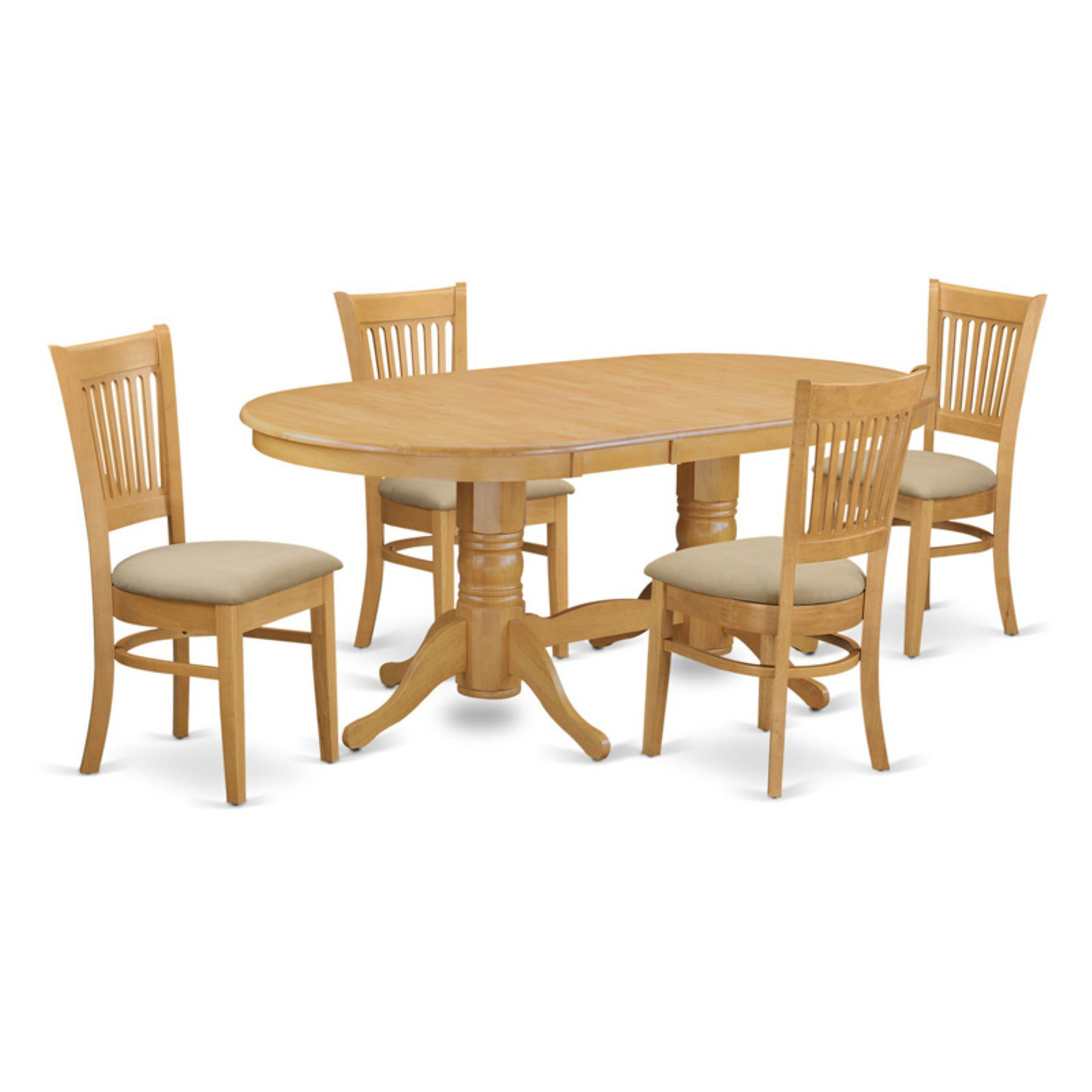 East west furniture vancouver 5 piece hepplewhite modern dining table set walmart com