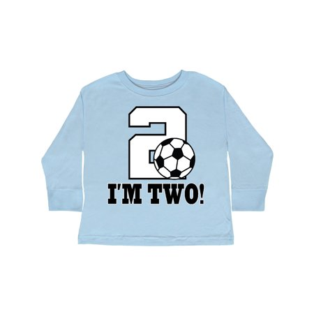 7106ad39 Inktastic - 2nd Birthday Soccer Outfit Toddler Long Sleeve T-Shirt -  Walmart.com